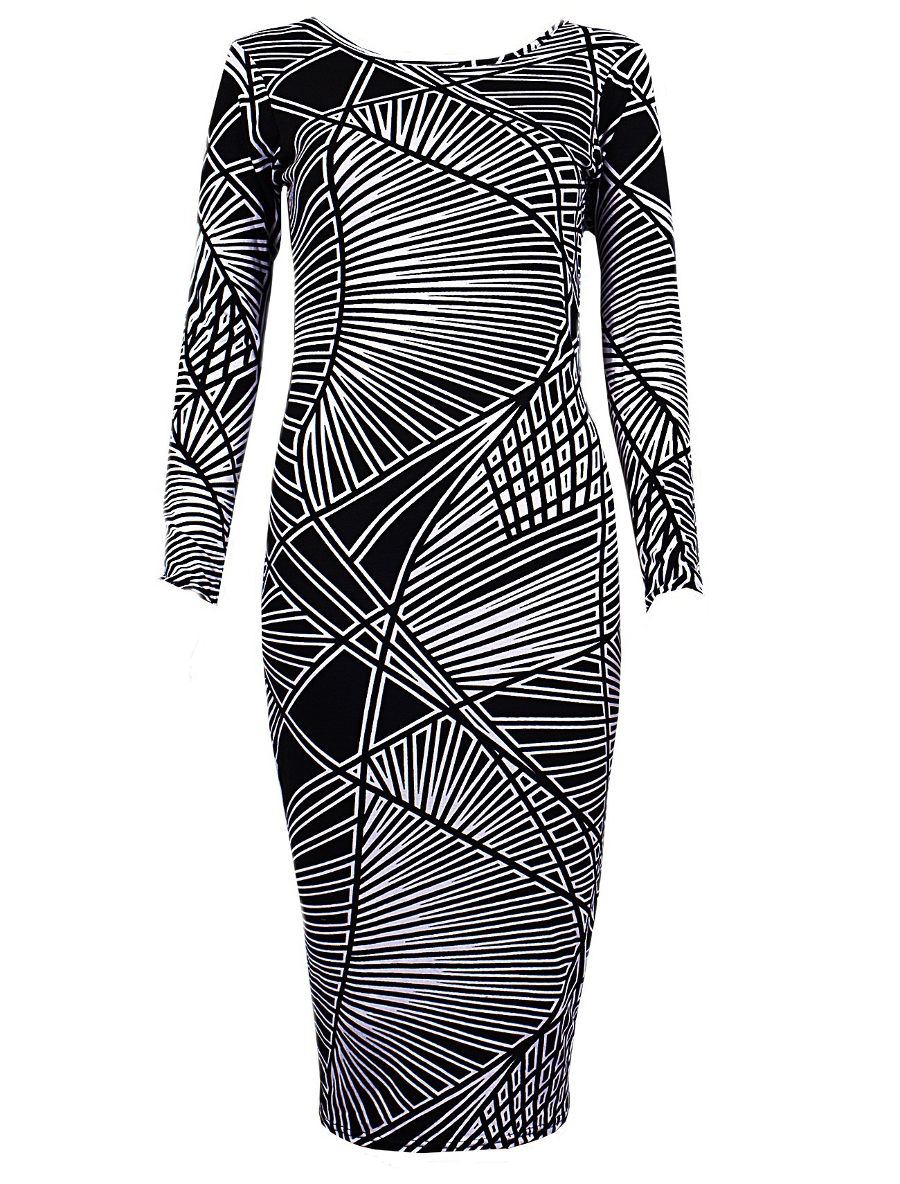 Robe monochrome tribal