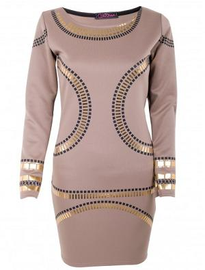 Robe beige et or