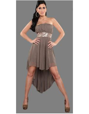 Robe taupe soiree