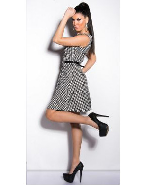 Robe fashion pied-de-poule