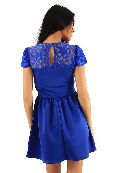 Robe patineuse fashion bleu