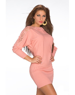 1eda4533a08bd Robe pull tendance corail nouvelle collection