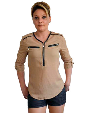Top fashion beige