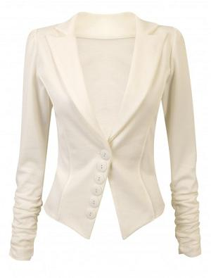 Veste fashion blanc cassé